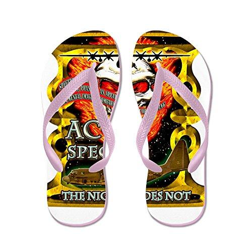 CafePress USAF AC-130 Spectre Skull Gol - Flip Flops, Funny Thong Sandals, Beach Sandals Pink