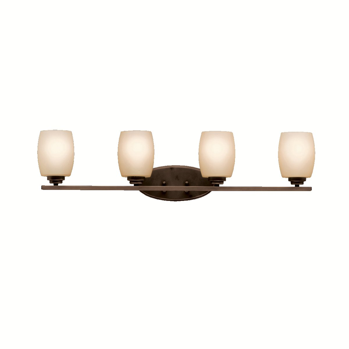 Kichler 5099oz bath vanity wall lighting fixtures bronze 4 light 34 w x 10 h 400 watts vanity lighting fixtures amazon com