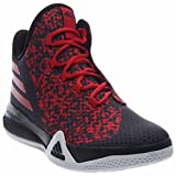 adidas Performance Men's Light Em Up 2 Basketball Shoes,Black/White/Scarlet,7.5 M US
