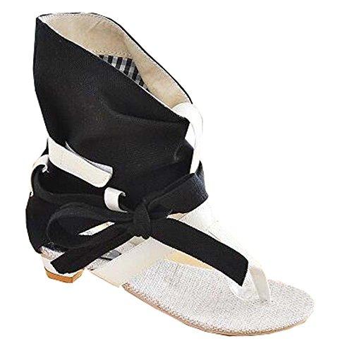 2014 neue Sommer-Schuh-Frauen Sandalen tiefer Absatz flache Frauen Sandalen Schuhe offener Schuh Damen Keilsandalen Schwarz