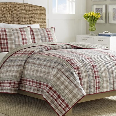 Nautica Twin Size Comforter (Harber Hill Cotton Pieced Reversible Quilt Size: Twin)