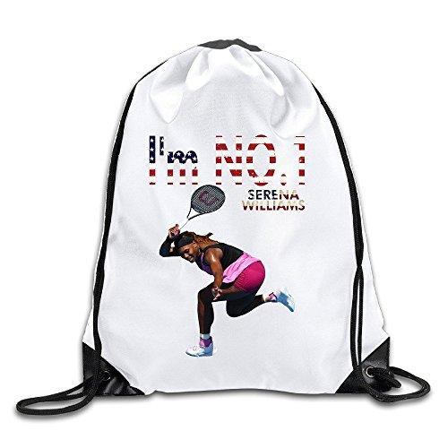 EUNICORN SG Serena Williams Tennis Player ACE Snapback Gym Sack Bag Drawstring Backpack Sport Bag