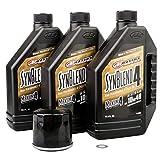 Tusk 4-Stroke Oil Change Kit Maxima Synthetic Blend 10W-40 -Fits: Yamaha Viking VI 700 4x4 2015-2017