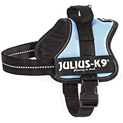 """162BS-MM Julius K9 """"speaking"""" dog Powerharness for labels, Size: """"Mini-Mini"""" blue sky - Chest: 15.75-20.47inch - weight: 8.82-15.43lbs - K-9"""