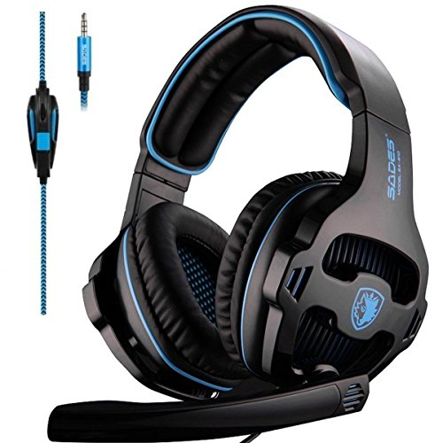 51SYeVWI89L - Sades Over-Ear Stereo Bass Gaming Headphone with Noise Isolation Microphone for Xbox One PC PS4 Laptop Phone