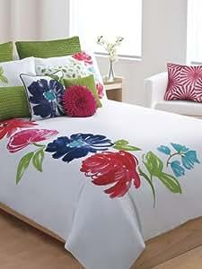 Amazon Com Cynthia Rowley New York Luxury Floral Duvet