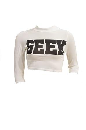 camisa para mujer de las señoras del friki de impresión de tres ...