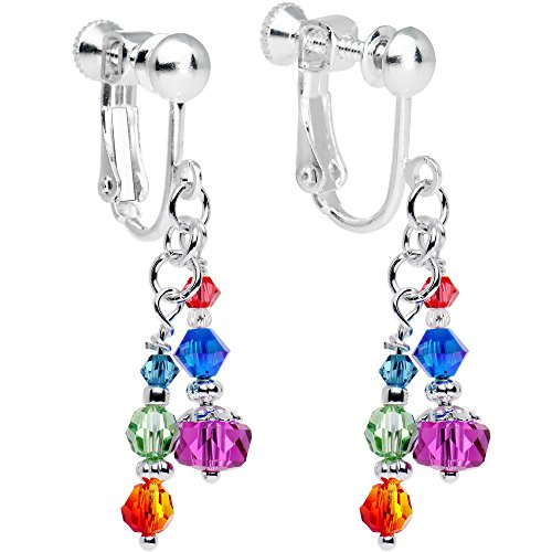 - Body Candy Handcrafted Glistening Clip Earrings Created with Swarovski Crystals
