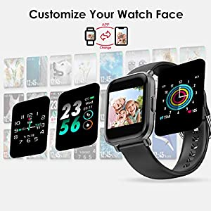 HolyHigh Smart Watches for Men Women Full Touch Customize Watch Face