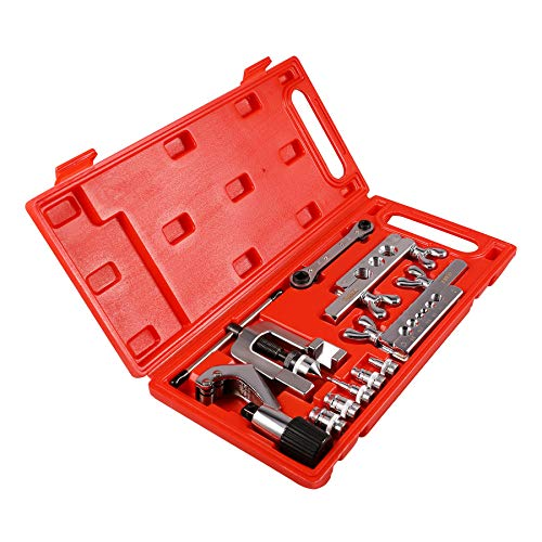 Orion Motor Tech Professional Single Flaring Tool and Swaging Tool Kit for Copper Pipe/Tubing, 10-Piece