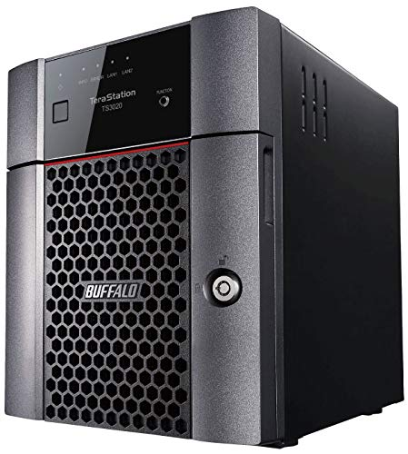 BUFFALO TeraStation 3420DN 4-Bay Desktop NAS 16TB (2x8TB) Hard Drives Included 2.5GBE