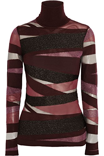 Wool Top & Striped Skirt - Emilio Pucci Burgundy Wool Striped Bandage Top XS