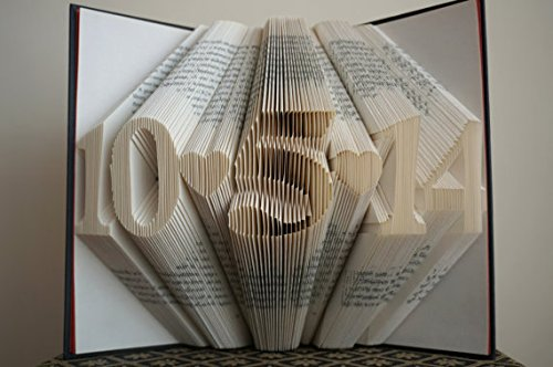 Folded Book Art -Joy - Customizable, Joyful, happiness, happy - Paper Anniversary Gift for Him or Her