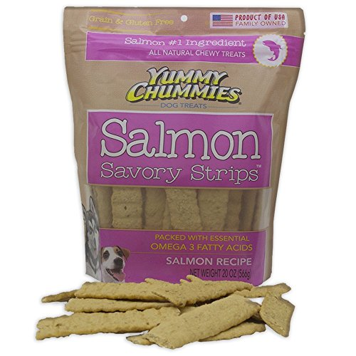 Yummy Chummies ALL NATURAL Salmon Savory Strips Grain & Gluten Free Made in the USA