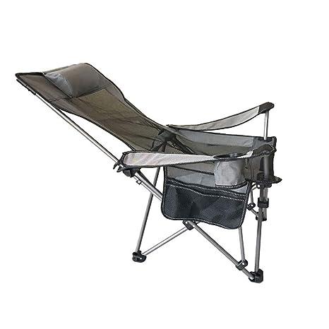 ASDFGH Plegable Ultraligera Camping Silla Plegable con ...