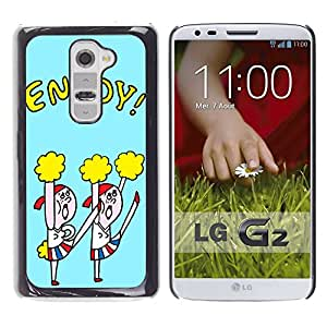 Dragon Case - FOR LG G2 - enjoy every day - Caja protectora de pl??stico duro de la cubierta Dise?¡Ào Slim Fit