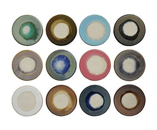 Creative Co-Op 4.5-inch Round Reactive Glaze Stoneware Coasters, Multicolor, Set of 12 by Creative Co-op (Image #1)
