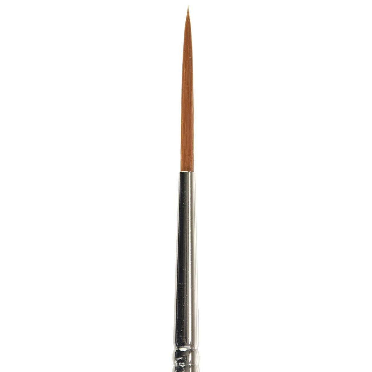 Black 1 Orange KINGART 6050-1 TAKLON Script Liner Paint Brush Silver