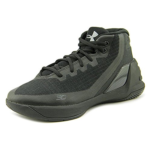 Under Armour GS Curry 3 Synthetik BasketballSchuh Schwarz