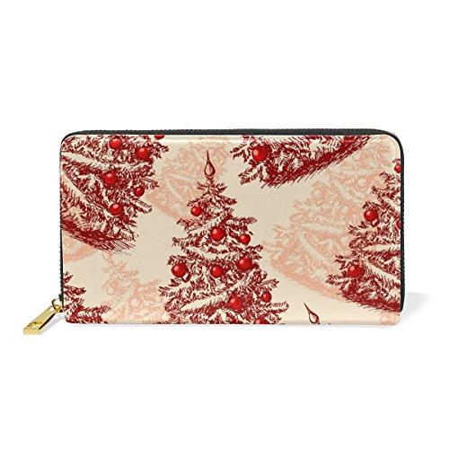 Clutch TIZORAX Organizer Womens Hand Handbags And Wallet Christmas Around Draw Purses Zip Trees wXxqfrX