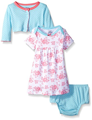 Gerber Little Girls' Toddler Two-Piece Cardigan and Dress Set, Roses, 5T ()
