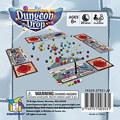 Gamewright Dungeon Drop – The Infinite Dungeon Creation Table top Game: Toys & Games