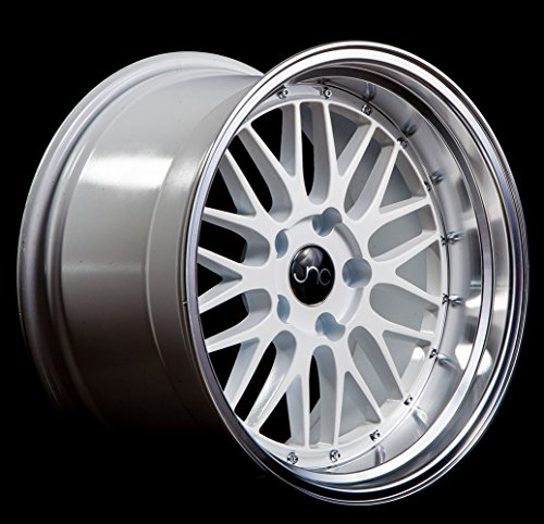 JNC005 White Machined Lip 18x8 5x112 ET34 Offset Wheel Rim