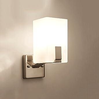 Moderne Milchglas Light Box Verzinktem Eisen Wandleuchte ...