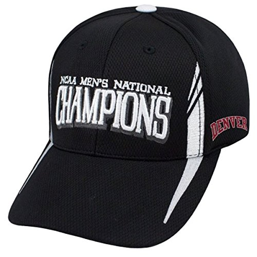 Top of the World Denver Pioneers 2015 LAX Lacrosse Champions Locker Room Adjust Black Hat Cap by Top of the World