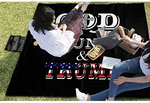 Olie Cam God Guns & Trump Picnic Mat Pieghevole Tote PIC PIC Mat Stuoia Impermeabile per Picnic
