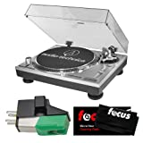 Audio-Technica AT-LP120-USB Professional Turntable (Silver)and Extra AT95E Dual Mount Cartridge