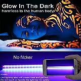 Led Black Light Bar, 10W 1ft USB Portable T5 UV