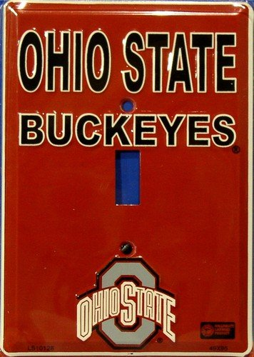 Ohio State University Buckeyes Collegiate Aluminum Novelty Single Light Switch Cover Plate