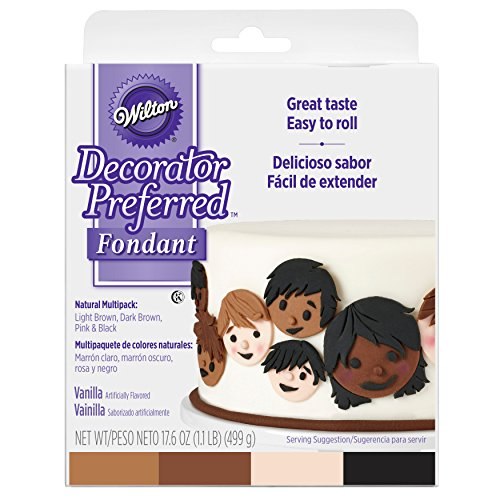 Wilton Decorator Preferred Natural Skin Tone Fondant Icing -