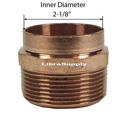 Libra Supply DWV Wrought Copper 2 , 2 inch, 2-inch Male Adapter C x M, (click in for more size options)DWV Copper Pressure Pipe Fitting Plumbing Supply