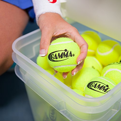 090852772996 - GAMMA Pressureless Tennis Ball Bucket| Case w/48 Practice Balls| Sturdy/Reusable/Portable Bucket to Replace Less Durable Tennis Mesh Bags| Ideal For All Court Types| Gamma Premium Tennis Accessories carousel main 5