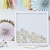 Wedding Guest Book Ideas Wedding Games Frame & 55 Write on Wood Circles