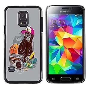 Shell-Star Arte & diseño plástico duro Fundas Cover Cubre Hard Case Cover para Samsung Galaxy S5 Mini / Galaxy S5 Mini Duos / SM-G800 !!!NOT S5 REGULAR! ( Cool Funny Swag Monkey Ape )