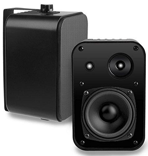 AP450 4-Inch 110W 3-Way Indoor/Outdoor Weather-Resistant Patio Speakers – OSD Audio – (Pair, Black)