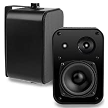 OSD Audio AP450 Black 4-Inch Outdoor 110-Watt Patio Speaker Pair