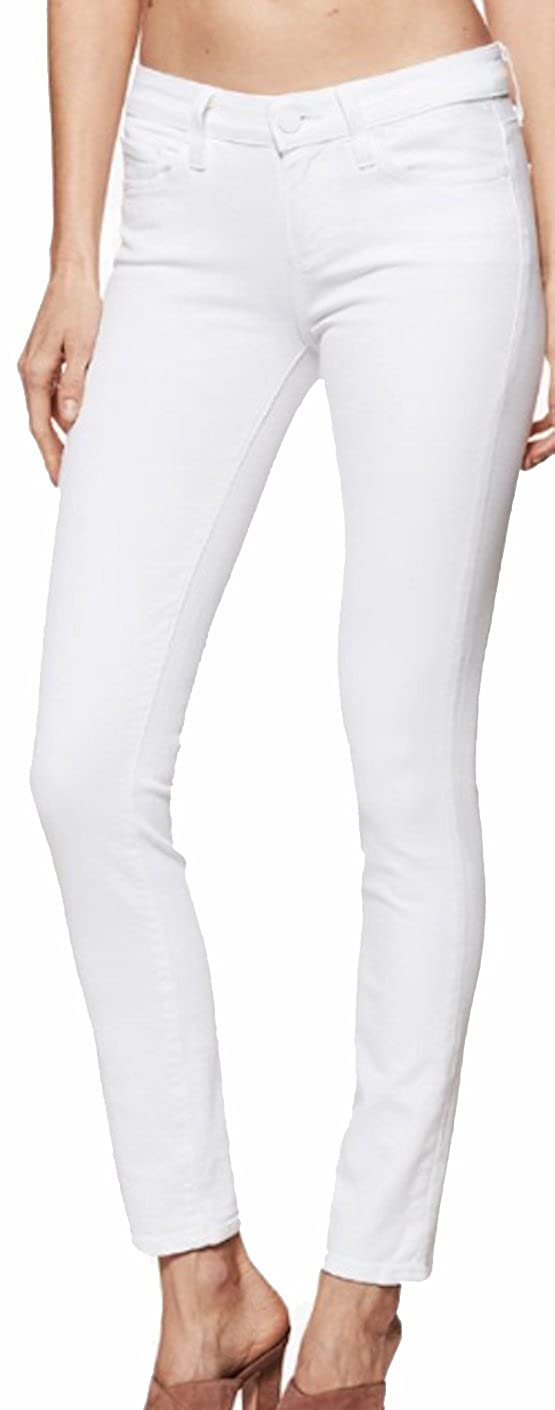 Paige Women's Jean Skyline Ankle Peg Crisp White mid Rise Skinny Jeans 0899208 4520