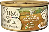 Muse by Purina Natural Gravy Wet Cat Food, MasterPieces Chicken Recipe - (24) 3 oz. Cans Larger Image
