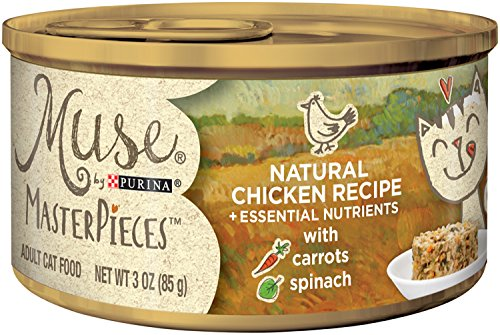 Muse by Purina Masterpieces Natural Wet Cat Food - (24) 3 oz. Cans, Chicken Recipe ()