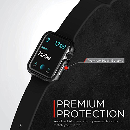 timeless design 26502 fe901 X-Doria 42mm Apple Watch Case (Defense Edge) Premium Aluminum and TPU  Bumper Frame (Charcoal) - Compatible with Apple Watch Series 1, Series 2,  Series ...