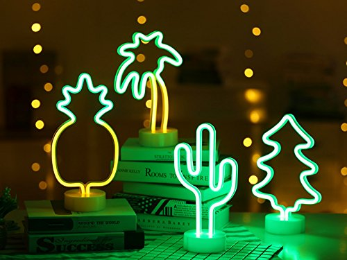 Neon Cactus Indoor Night Light with Holder, LoveNite Glowing Neon Decorative Sign Light for Room Party Festival Decorations by LoveNite (Image #6)'
