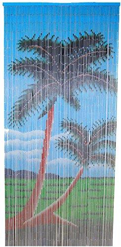 Bamboo 54 5236 Double Palm Tree Bamboo Curtain - Palm Tree Bamboo Curtain