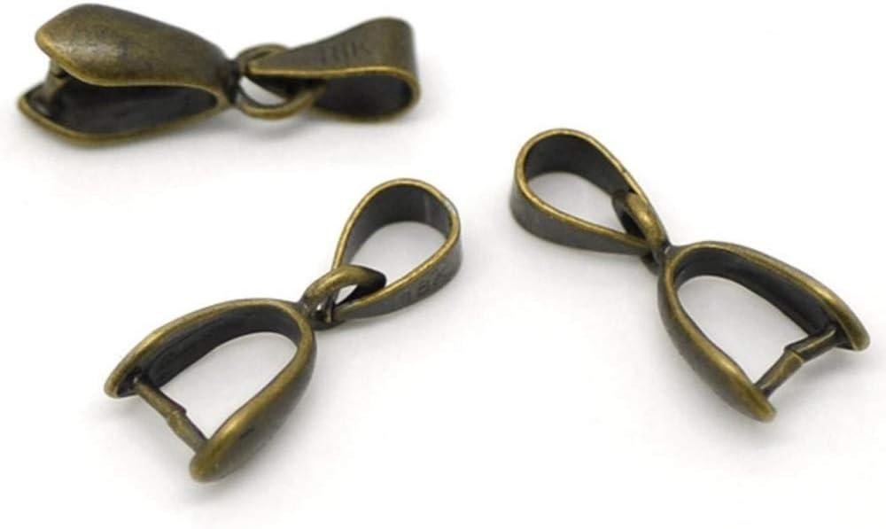 Clavos con colgantes de alta calidad, 15 mm o 18 mm, tono bronce antiguo #cf75