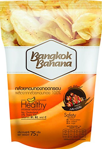 Banana Chips,Bangkok Banana,BBQ Flavor, 4 packs (75 g/ pack)