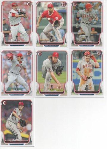 Los Angeles Angels of Anaheim 2014 Bowman Baseball Series Complete Mint 7 Card Team Set Albert Pujols Mike Trout Plus