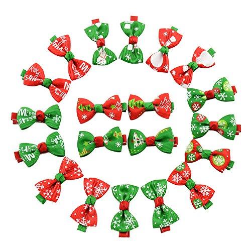 Benala Baby Girl Grosgrain Ribbon Boutique Christmas Hair Bows Alligator Clips 10Pcs (Halloween Hair Bows Pinterest)